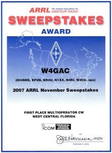 2007 Nov SS 1st Multi-Op CW WCF
