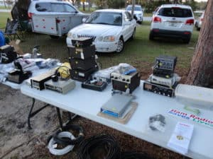 A picture of the SPARC table with various items for sale