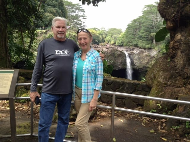Tom W4CU and his YL Joy in Hawaii.