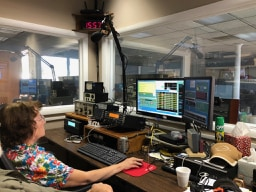 Leslie WA4EEZ operating the RTTY station